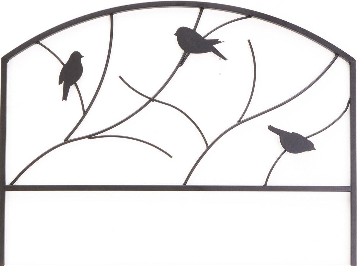 Perkhekje met vogeldecoratie - 60 x 45 cm - set van 4 stuks
