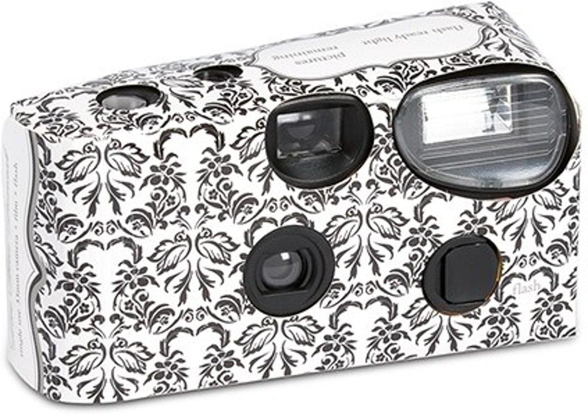 Weddingstar Wegwerpcamera black & white damask - OP = OP kopen