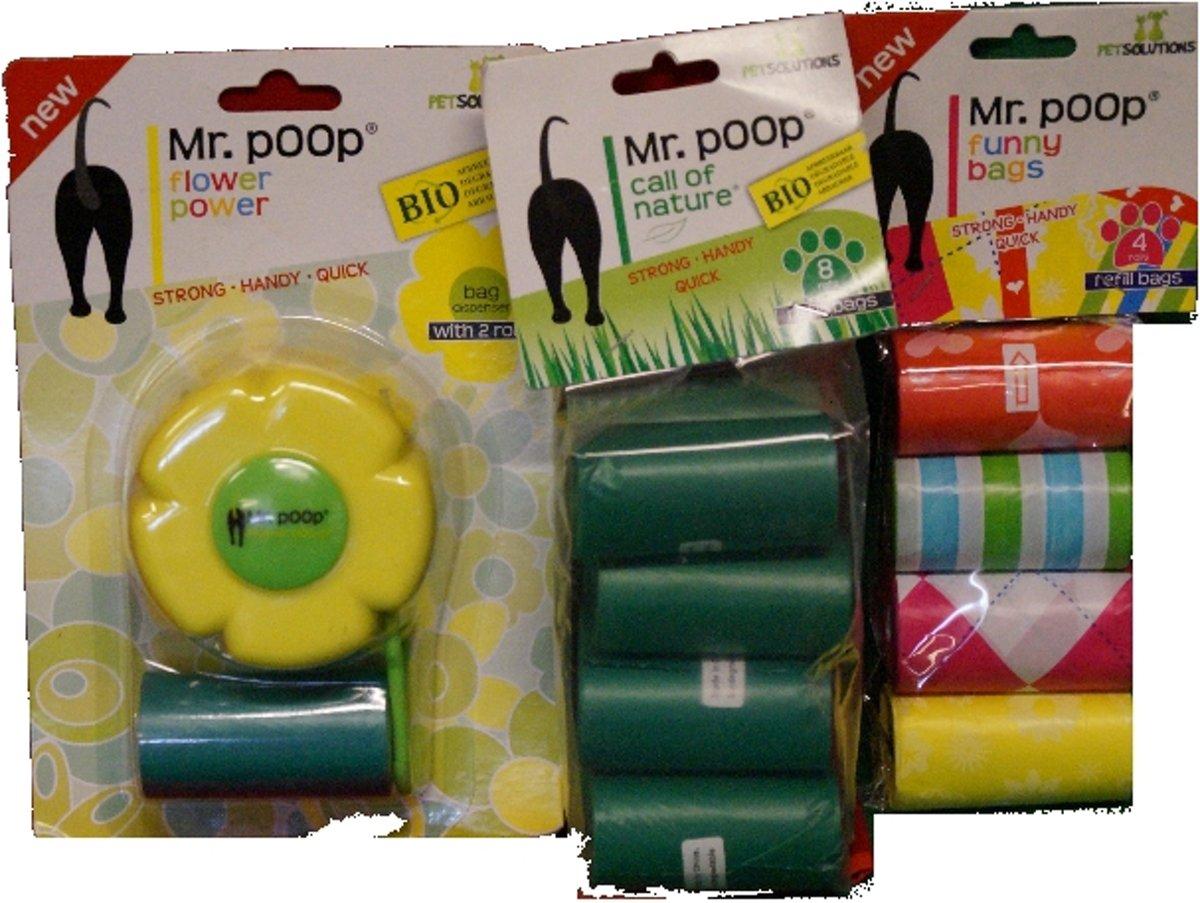 Mr. poop Flower power opruim pakket 2 kopen