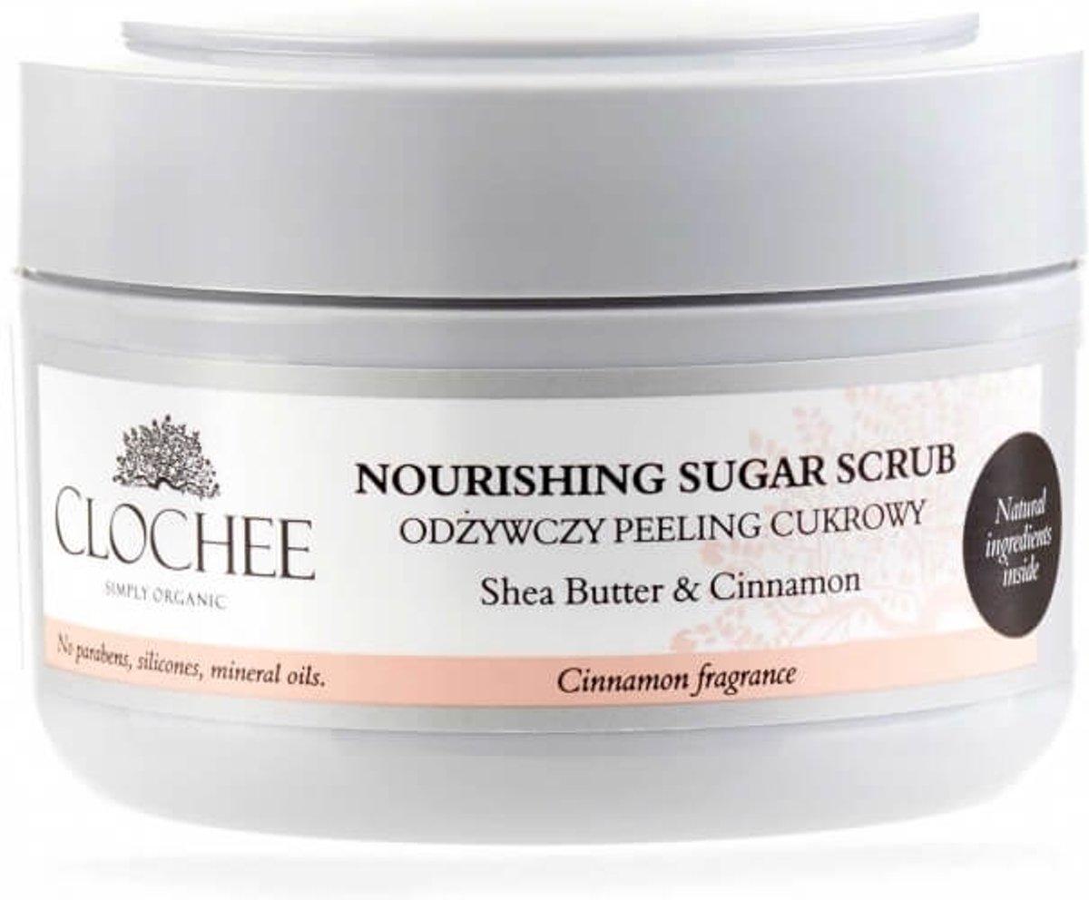Foto van Clochee Cosmetics nourishing sugar scrub Cinnamon 250g.