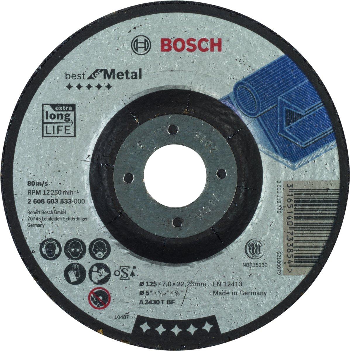 Afbraamschijf gebogen Best for Metal A 2430 T BF, 125 mm, 22,23 mm, 6,0 mm 1st kopen