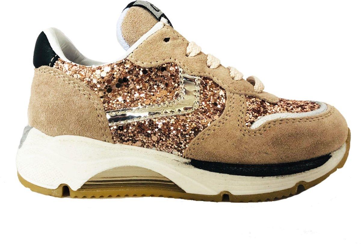 Clic! Meisjes Lage Sneakers Cl 20101 Beige Maat 33