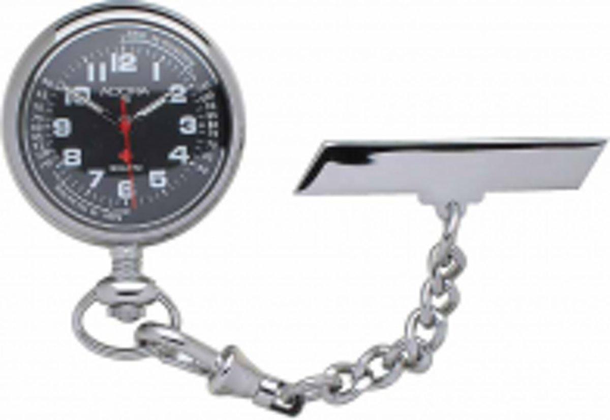 Mooi verpleegster horloge met zwart wijzerplaat-neon wijzers-van het merk Adora-106729 kopen