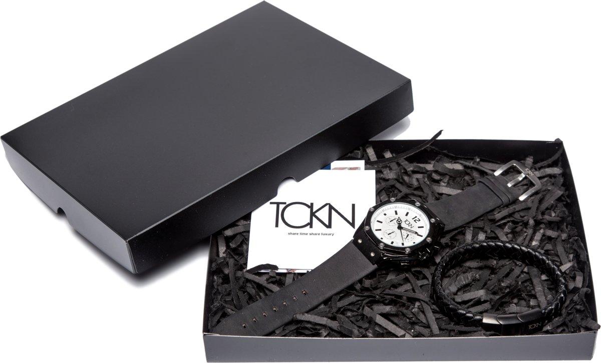 TCKN Horloge Geschenkset - Horloge & Leren Armband kopen