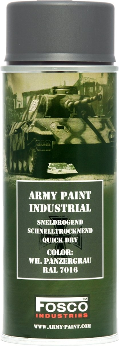 Fosco spuitbus legerverf 400ml Panzergrau