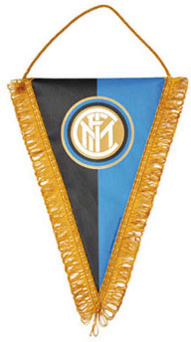 Inter Milan Wimpel 17 x 14 cm