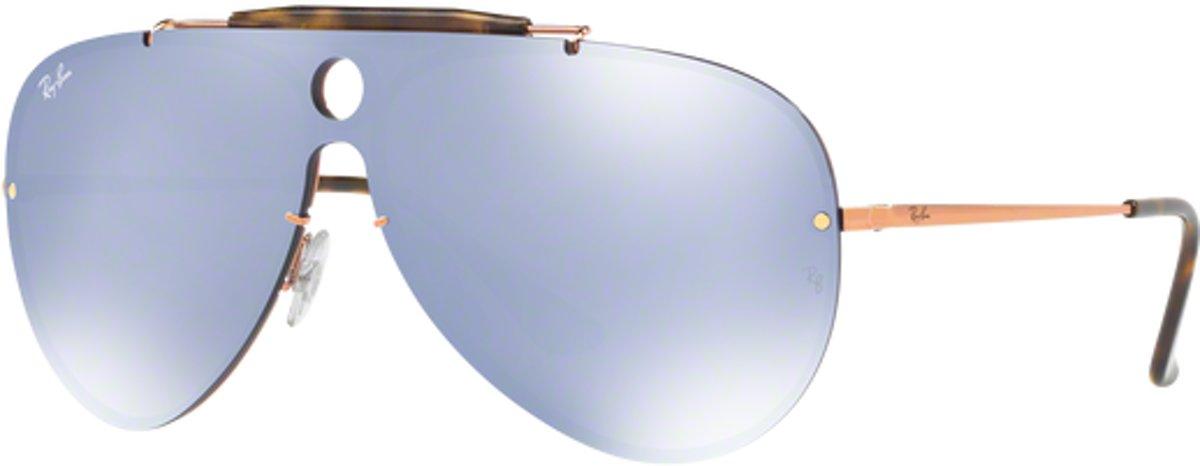 Ray-Ban RB3581N 90351U - Blaze Shooter - zonnebril - Brons-Koper / Blauw-Zilver Spiegel - 32mm kopen