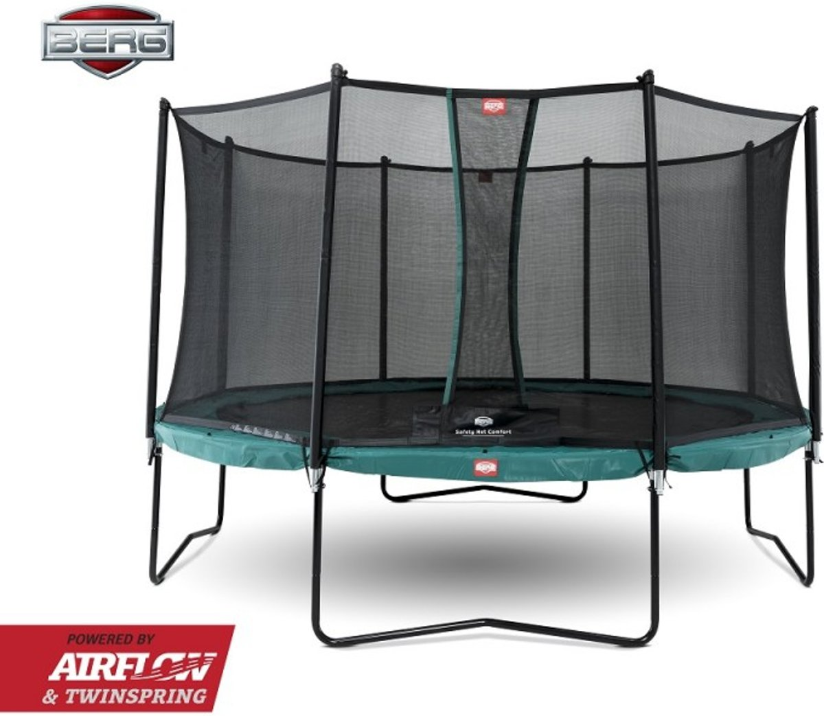 BERG Trampoline Champion 430 cm + Safetynet Comfort - Model 2018 met Airflow