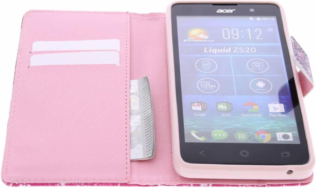 Conception D'éléphant Booktype Tpu Case Pour Acer Liquid Z520 lKDcSv