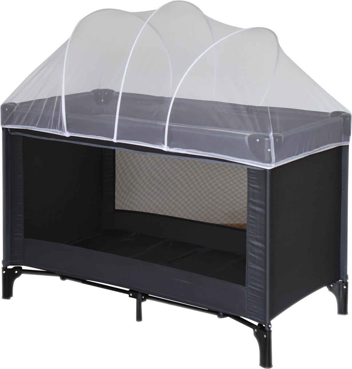 Nattou Muskietennet voor reisbedje campingbedje met bogen - 120 x 60 cm