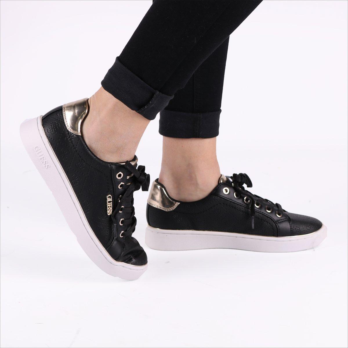 GUESS BeckieActive Lady Dames Sneakers Zwart Maat 39