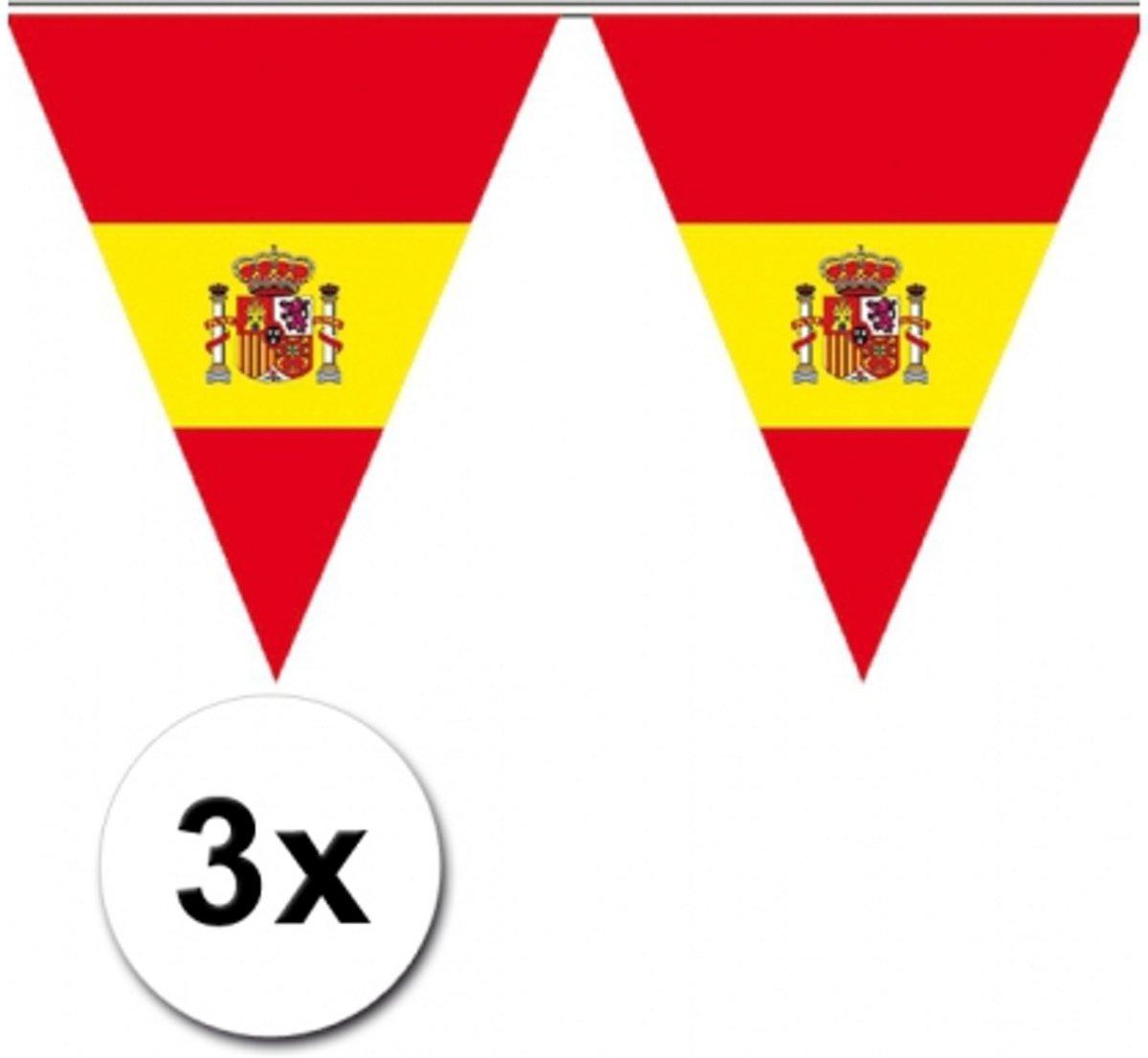 3x Spaanse vlaggenlijn - versiering