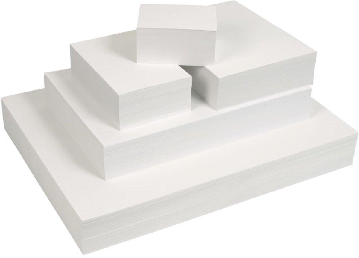 Tekenpapier WIT 16x16 cm 120 gr. 500 vel