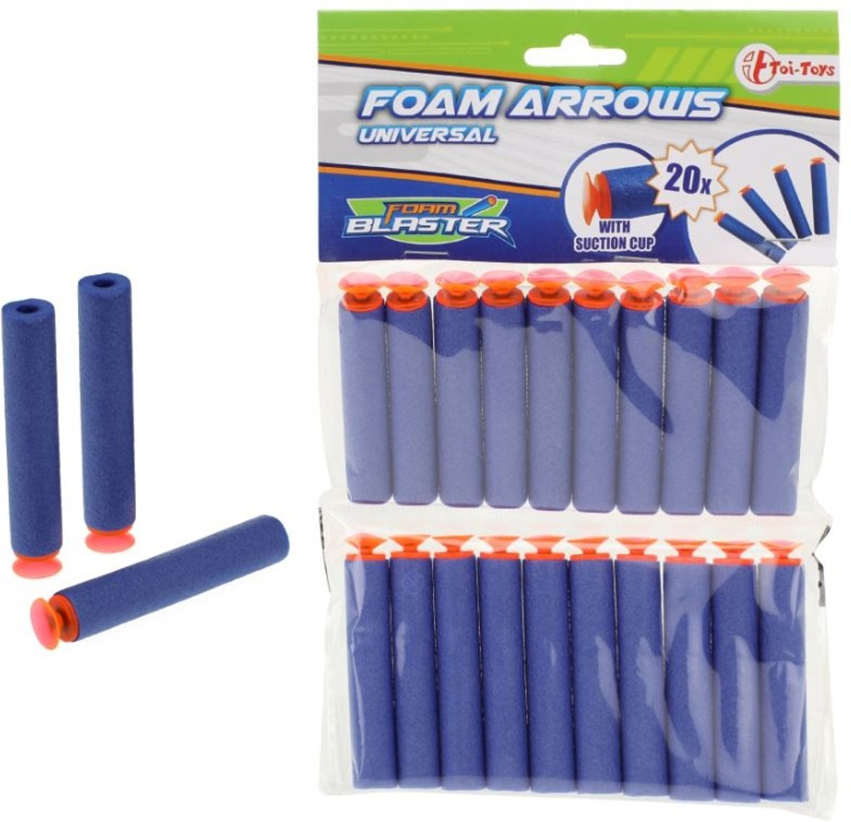 Toi-toys Navulset Foam Blaster Met Zuignap 20 Stuks