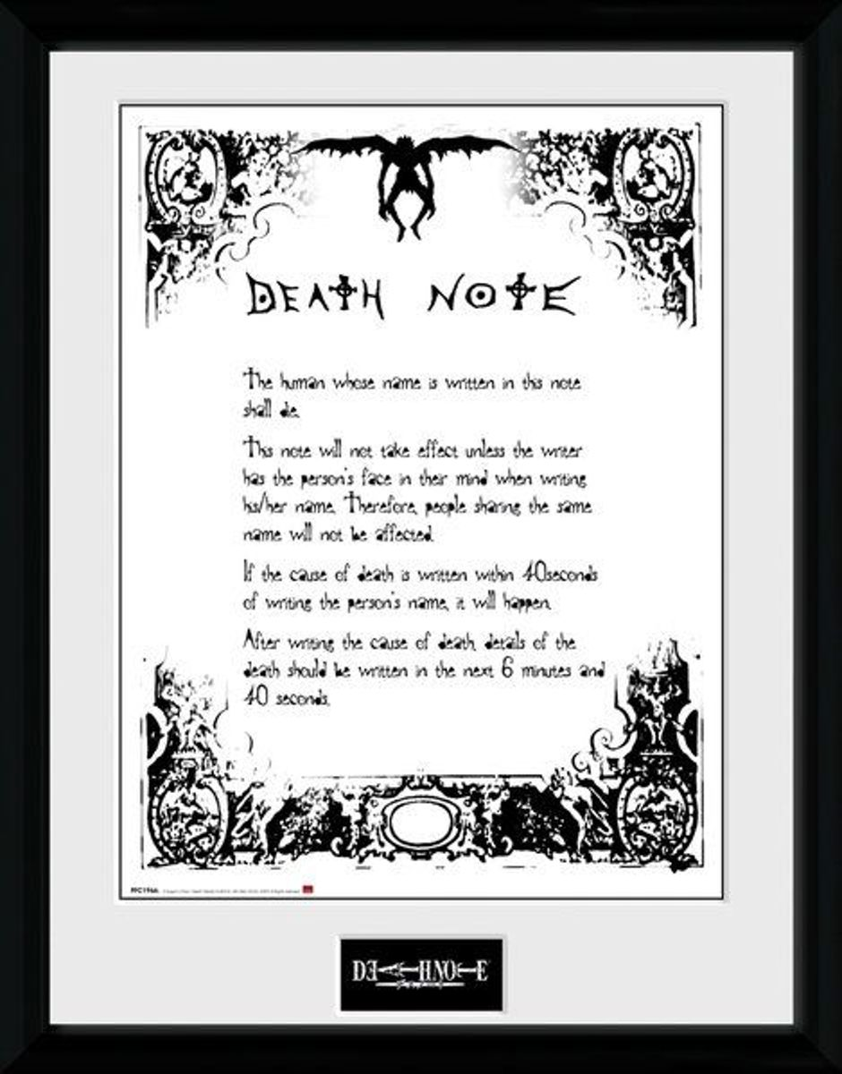 Death Note Death Note - Collector Print 30x40
