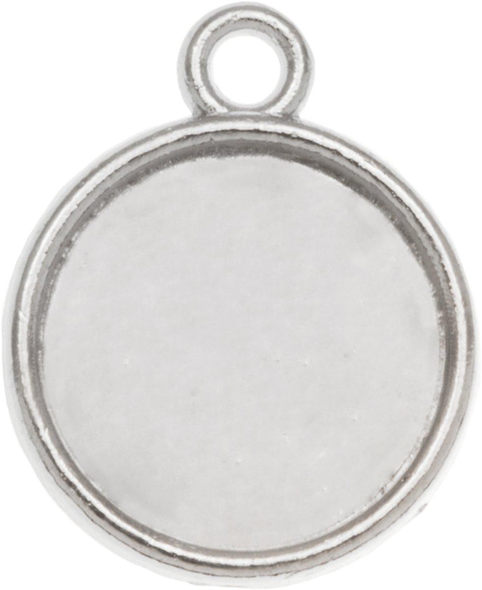 Setting 1 Oog (12 mm) Antiek Zilver (10 Stuks)