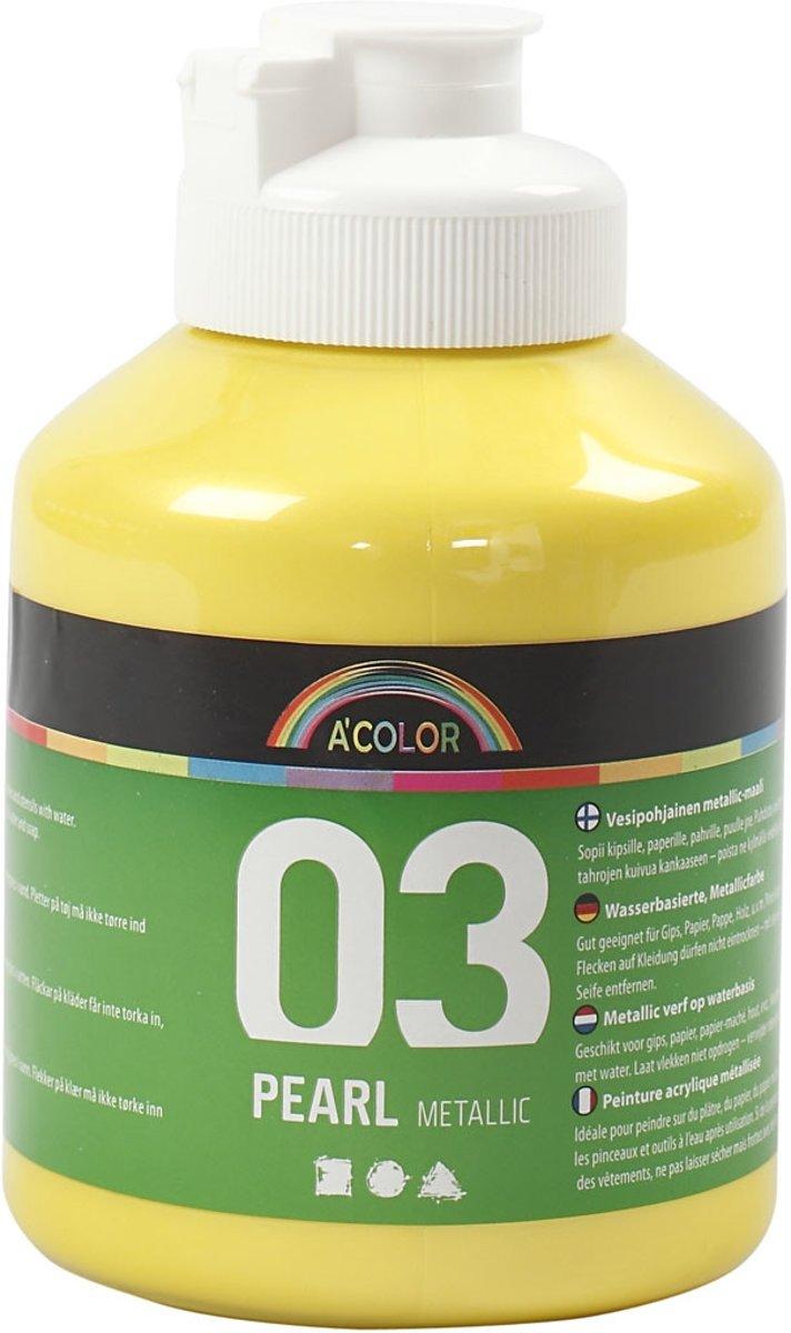 A-Color acrylverf, geel, 03- metallic, 500ml