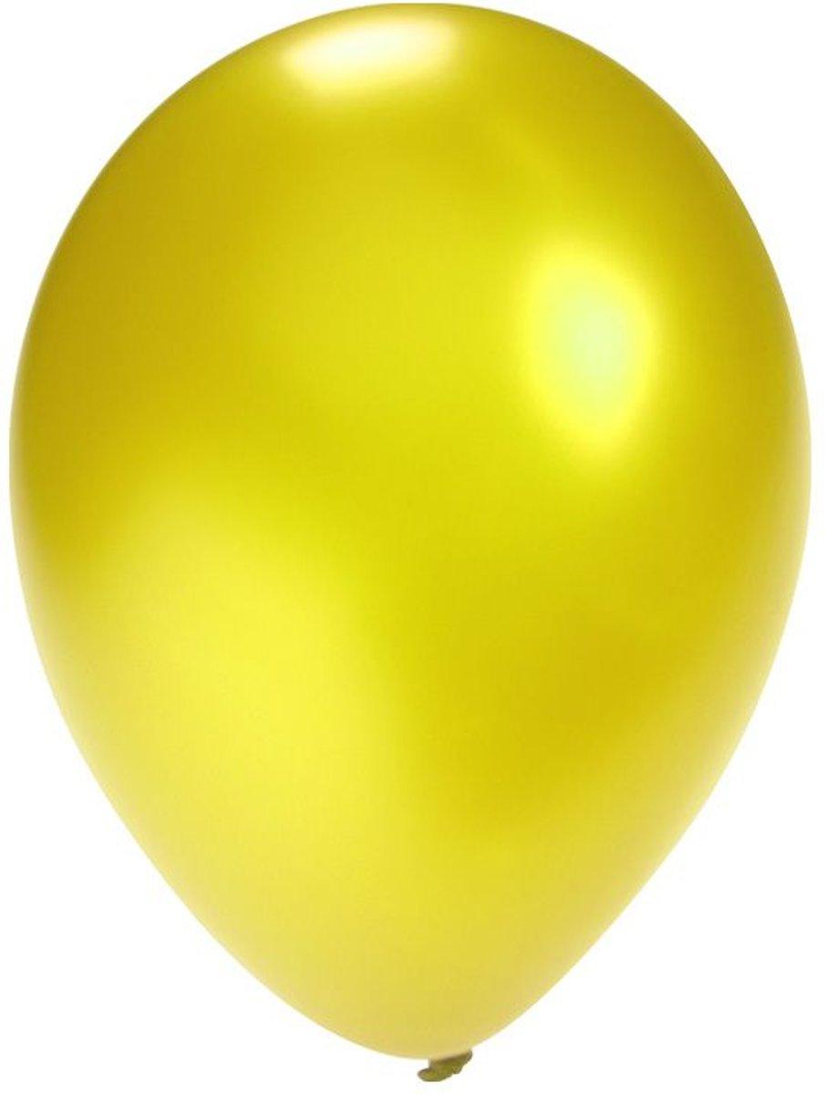 Ballon metallic geel per 100 stuks