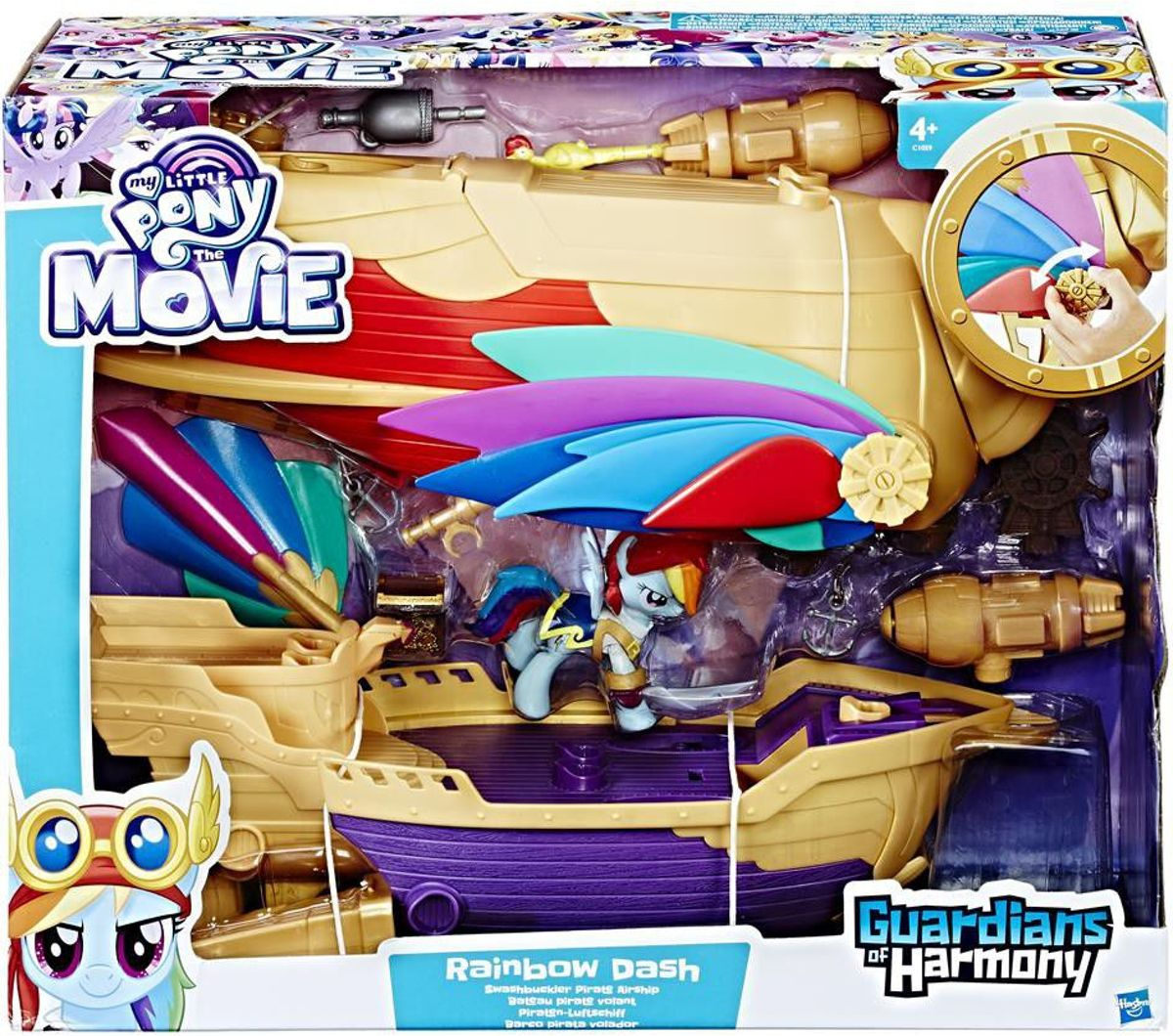 My Little Pony - Rainbow Dash Piraten Luchtschip - Guardians of Harmony