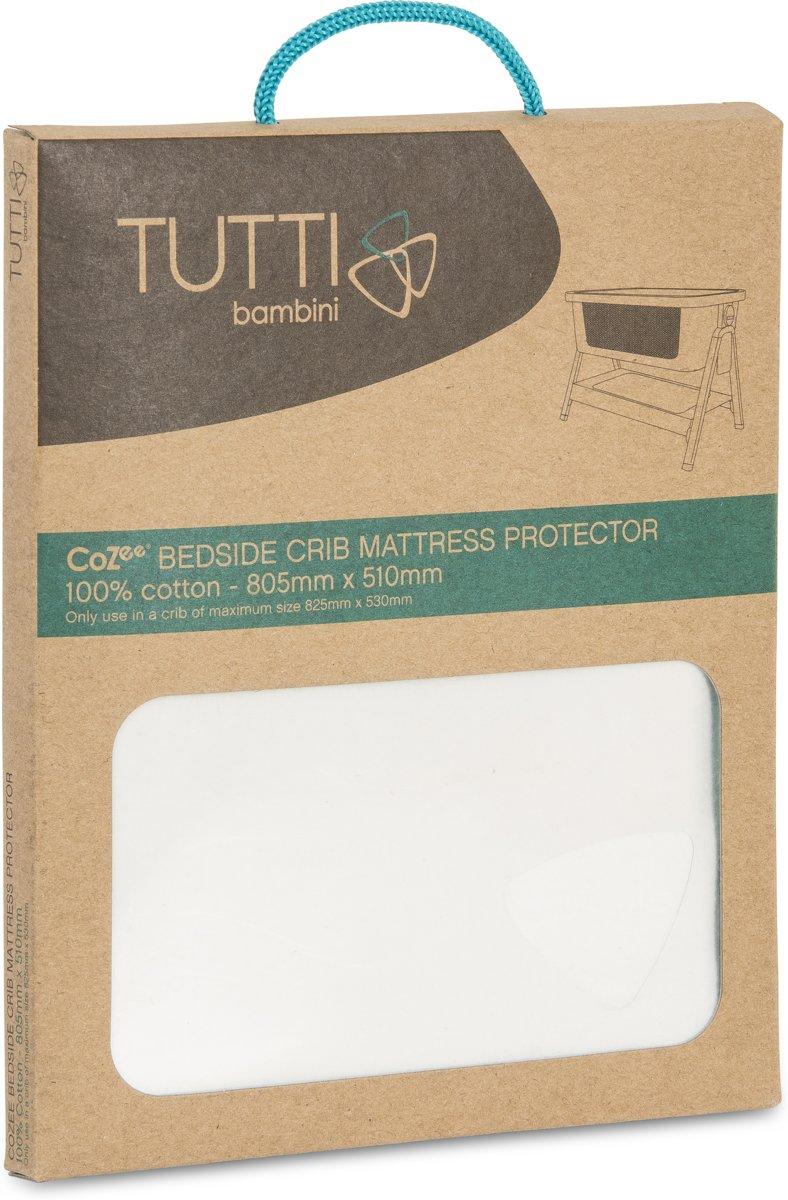 Tutti Bambini Cozee - Matrasbeschermer Wieg - White