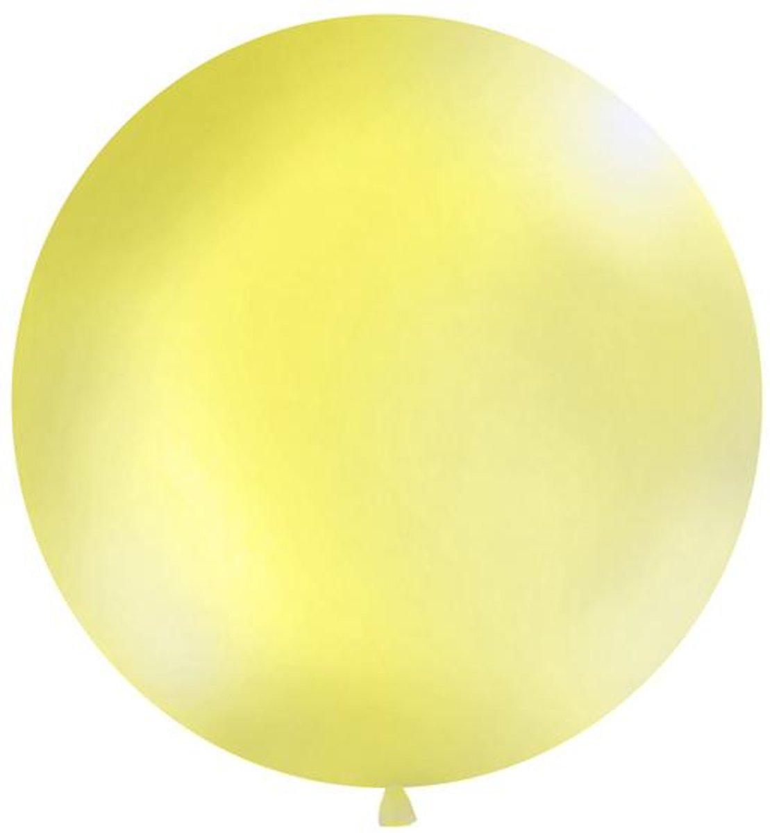 Balloon 1m, round, Pastel yellow