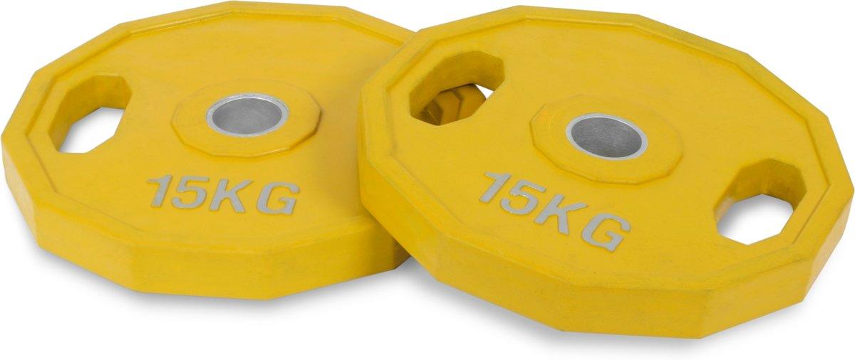 15kg rubber olympische schijvenset kopen