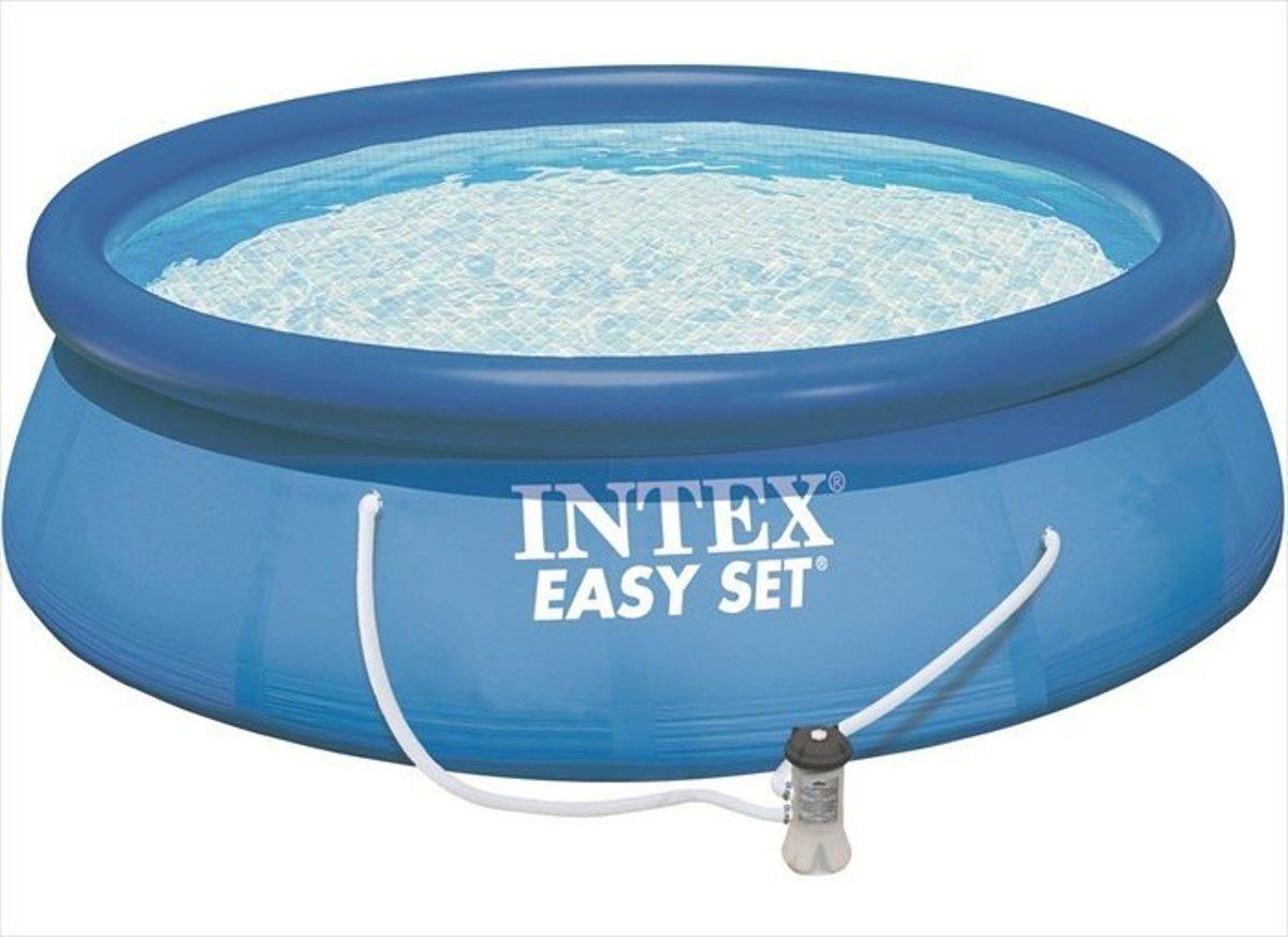 Intex Easy Set zwembad 366 x 76 cm -Met 12-Volt filterpomp (met reparatiesetje)