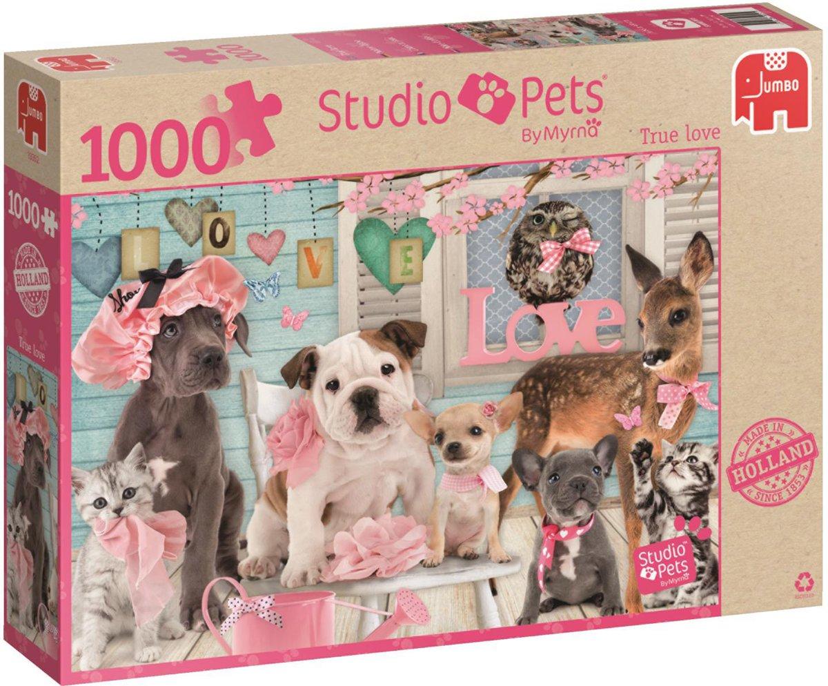 Jumbo Puzzel Studio Pets True Love - 1000 stukjes
