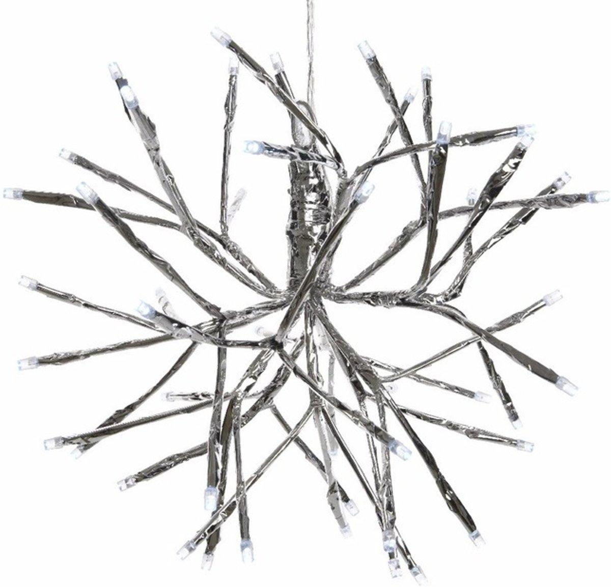 Kerstverlichting LED takkenbol koel wit binnen/buiten 25 cm kopen