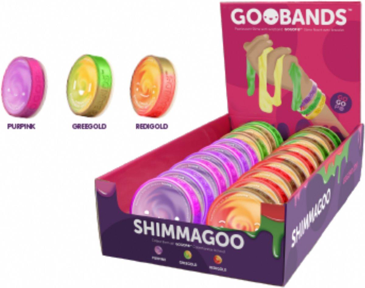Shimma glitter slijm - slime + Coole Goo Armband – oranje goud kopen
