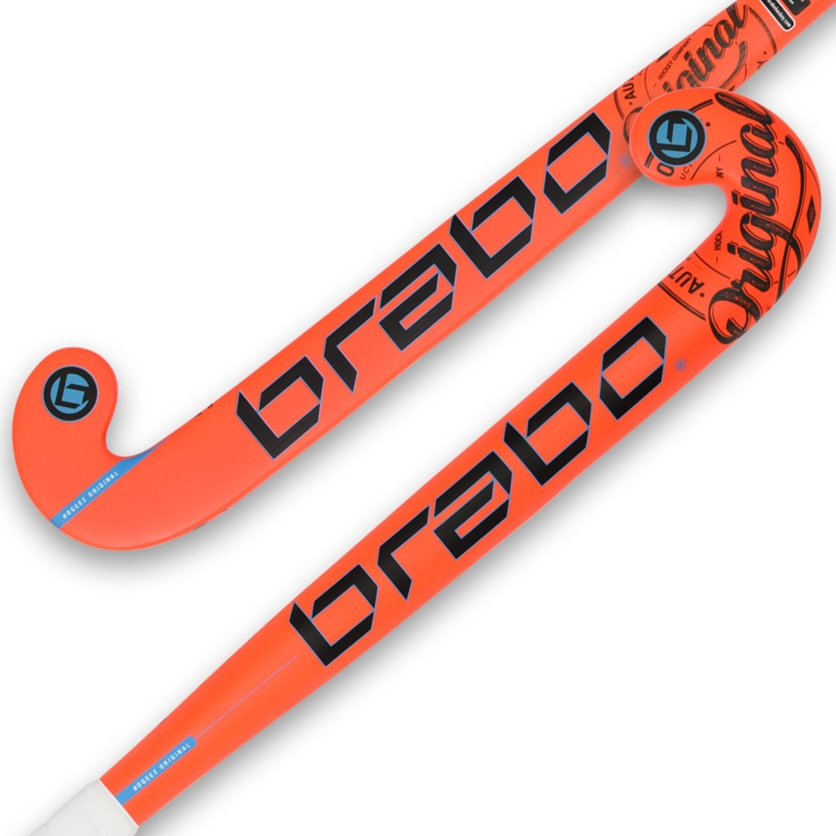 Brabo O'Geez Original Orange/Blue Hockeystick Unisex - Blue kopen