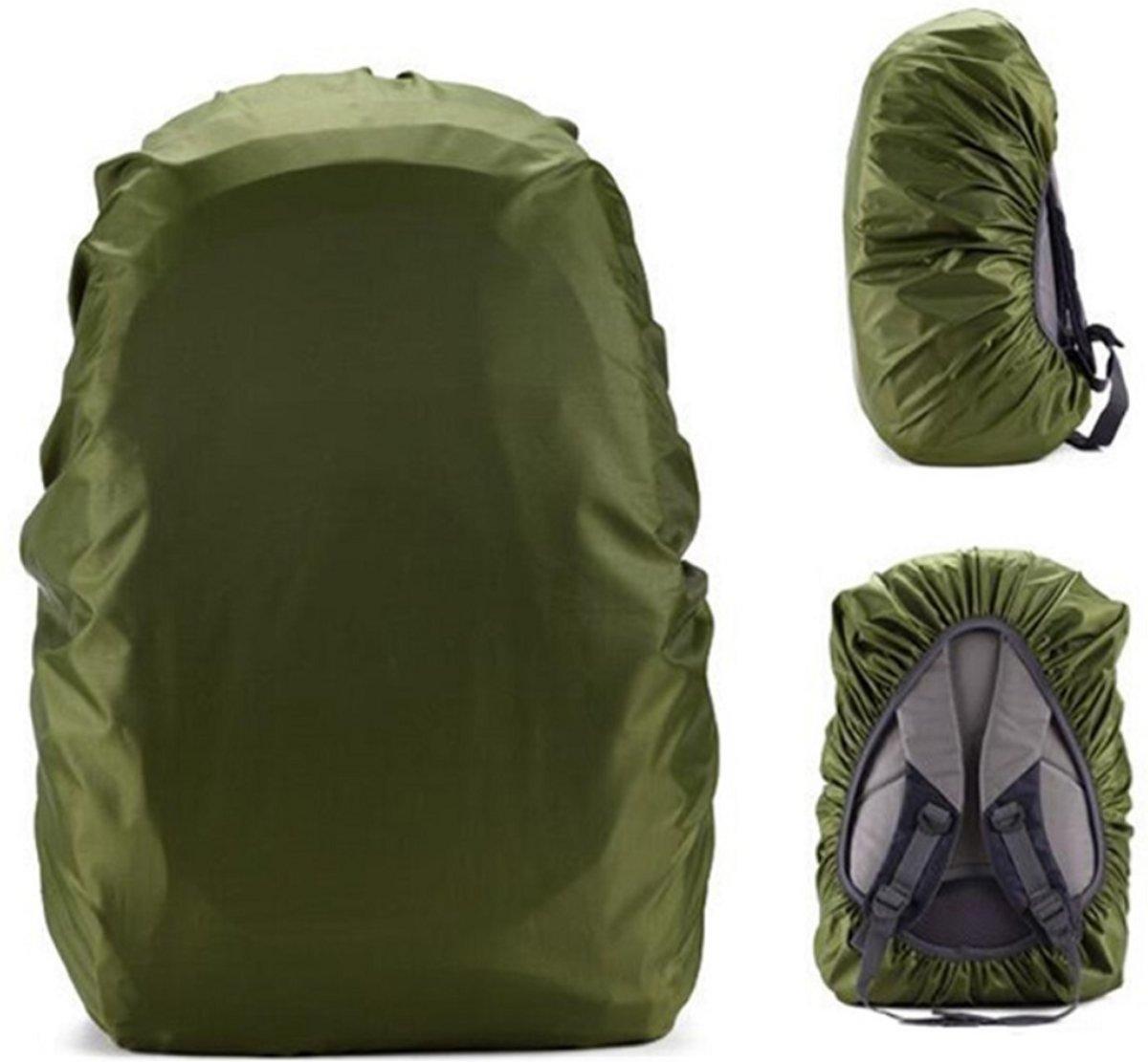 BlezLiving - luxe & universeel - regenhoes voor rugzak - tas beschermer - 35 liter - waterdicht - legergroen kopen