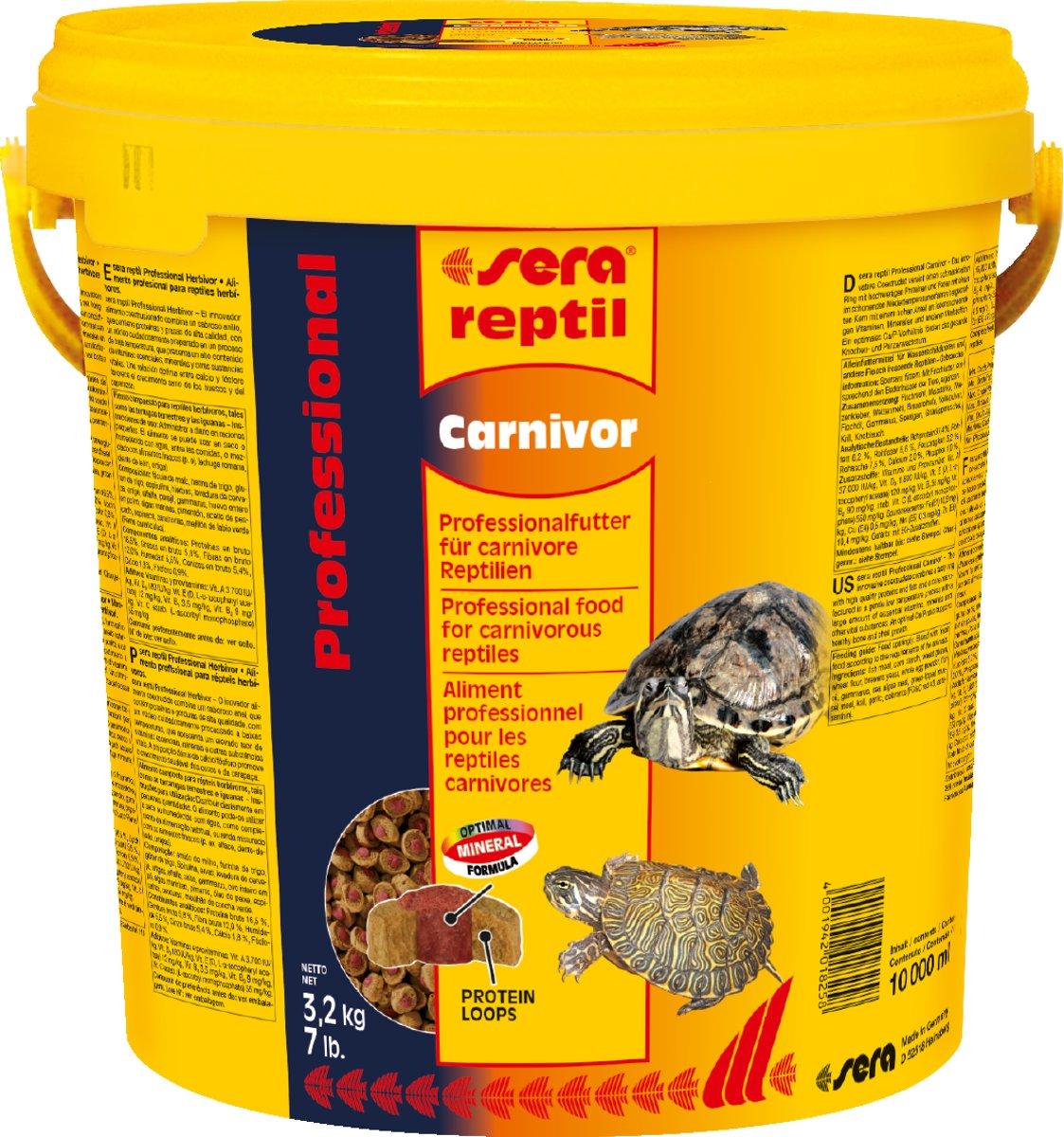 Sera reptil professional Carnivor 10 liter kopen