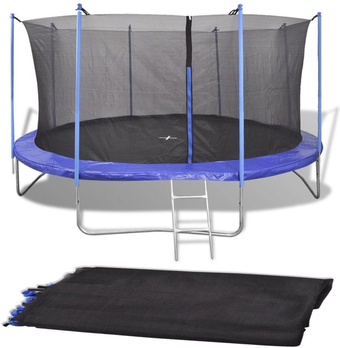 Veiligheidsnet Zwart voor Ronde Trampoline 366CM - Net trampoline 3.66MTR - Trampolinenet - Trampolineveiligheidsnet