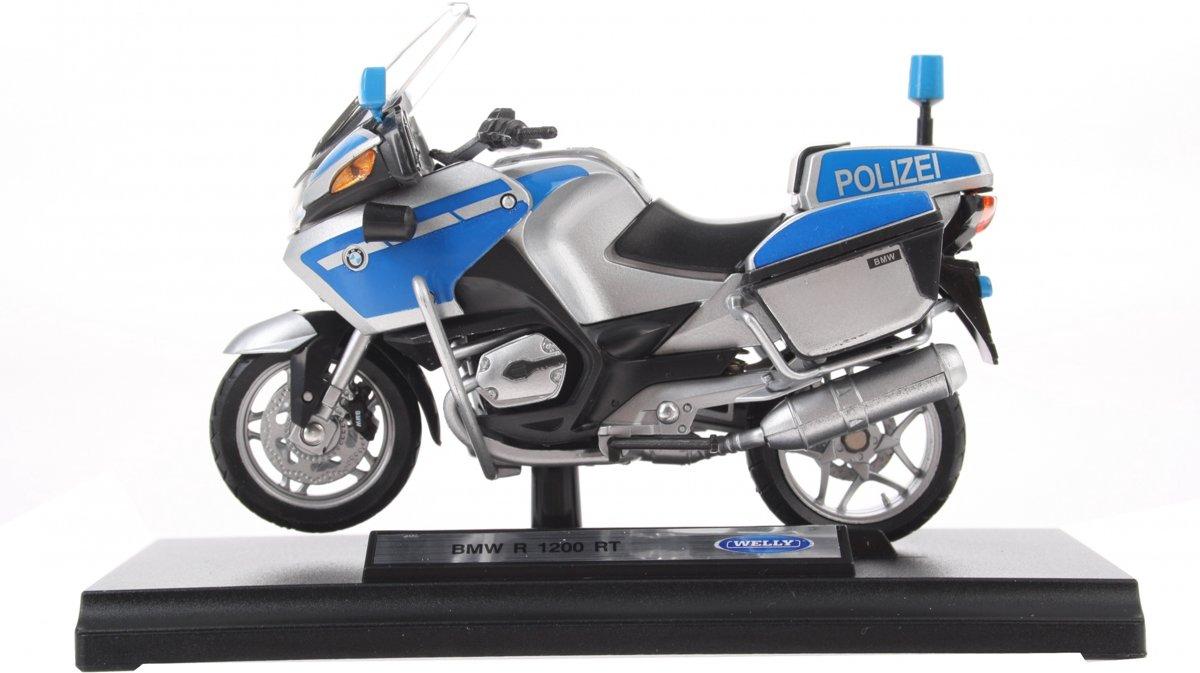 Goki Motor Politie Blauw 13 Cm