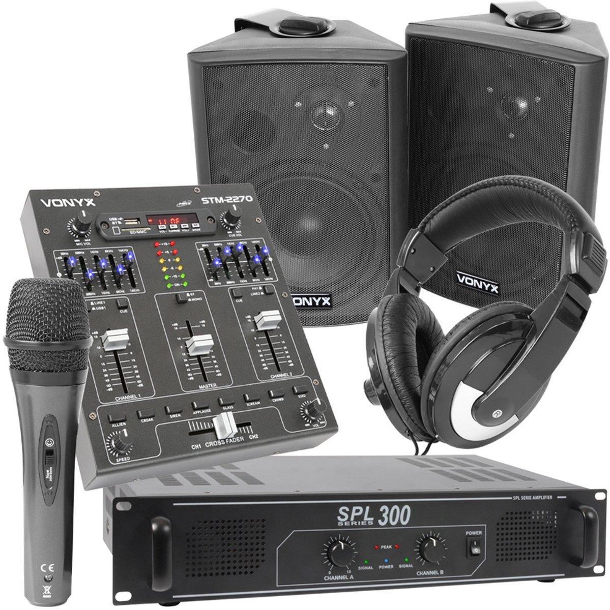 """Vonyx geluidsinstallatie """"Small DJ"""" compleet met Bluetooth mixer kopen"""