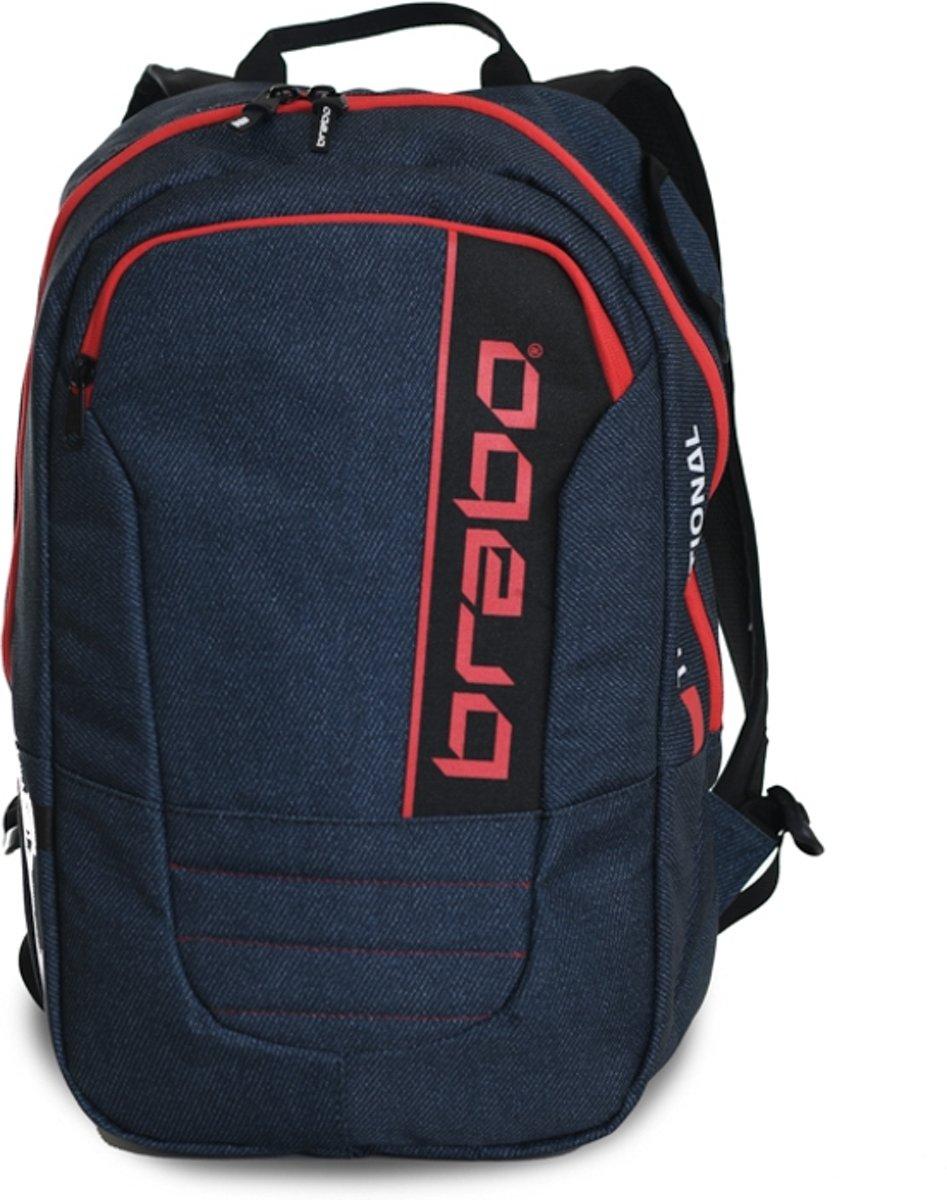 Brabo Backpack SR Trad. Denim Bl/Rd Sticktas Unisex - Rd kopen
