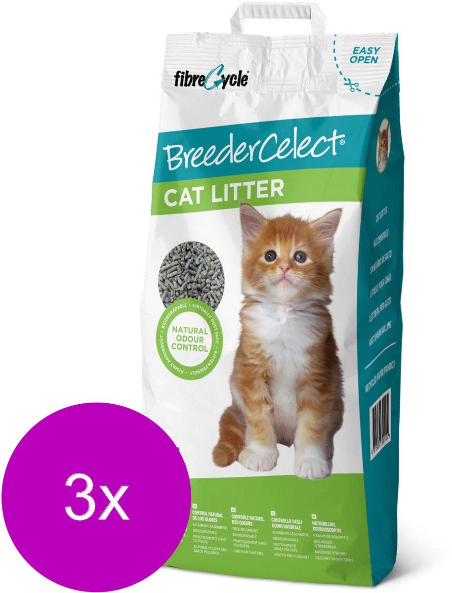 Breedercelect Kattenbakvulling 100 Procent Recycled - Kattenbakvulling - 3 x 10 l kopen