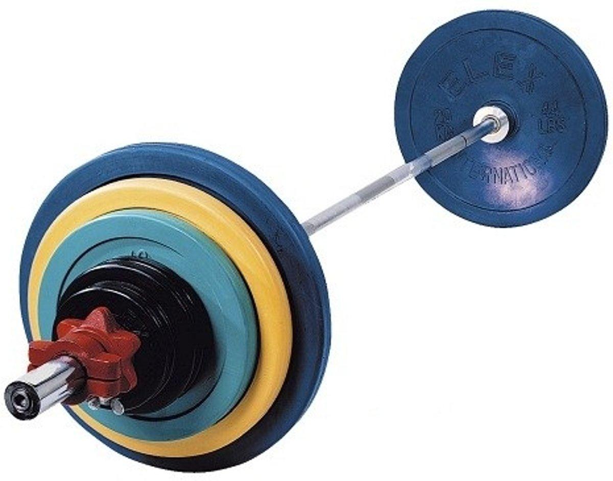 RS Sports Olympische Halterset - 140 kg - Gietijzer - Multi kopen