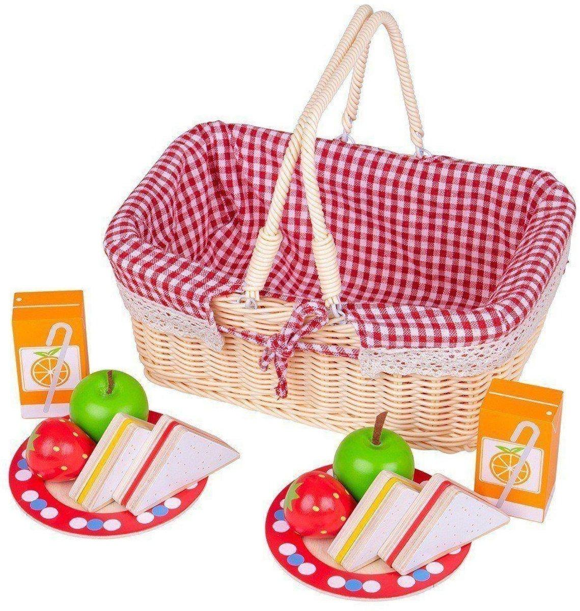 Bigjigs - Eten - Picknickmand met inhoud
