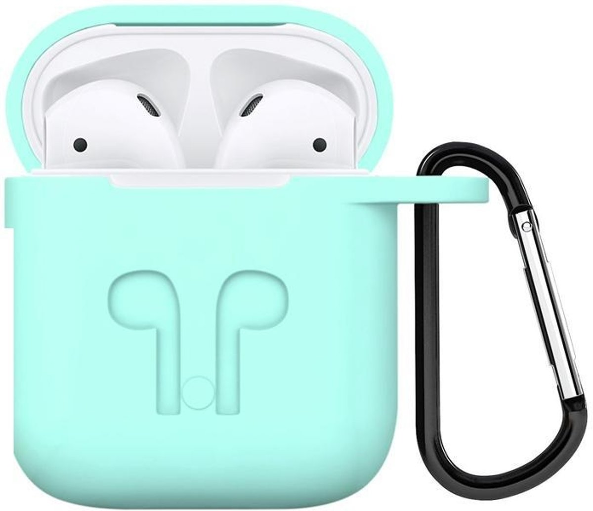 Airpods iCoon Silicone Case Cover voor Apple Air-pods - Licht Blauw kopen