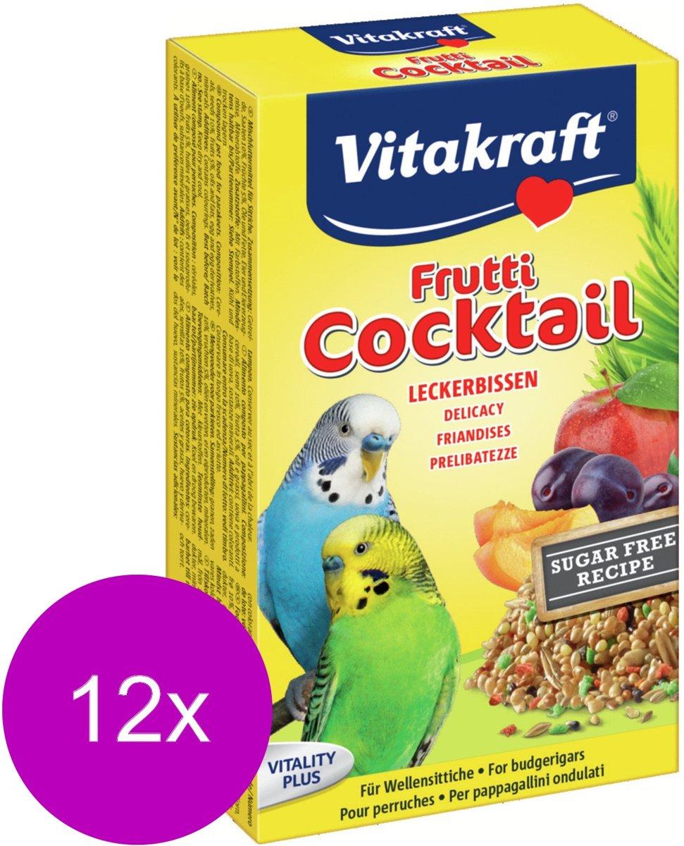 Vitakraft Parkiet Fruit-Cocktail - Vogelsnack - 12 x 200 g kopen