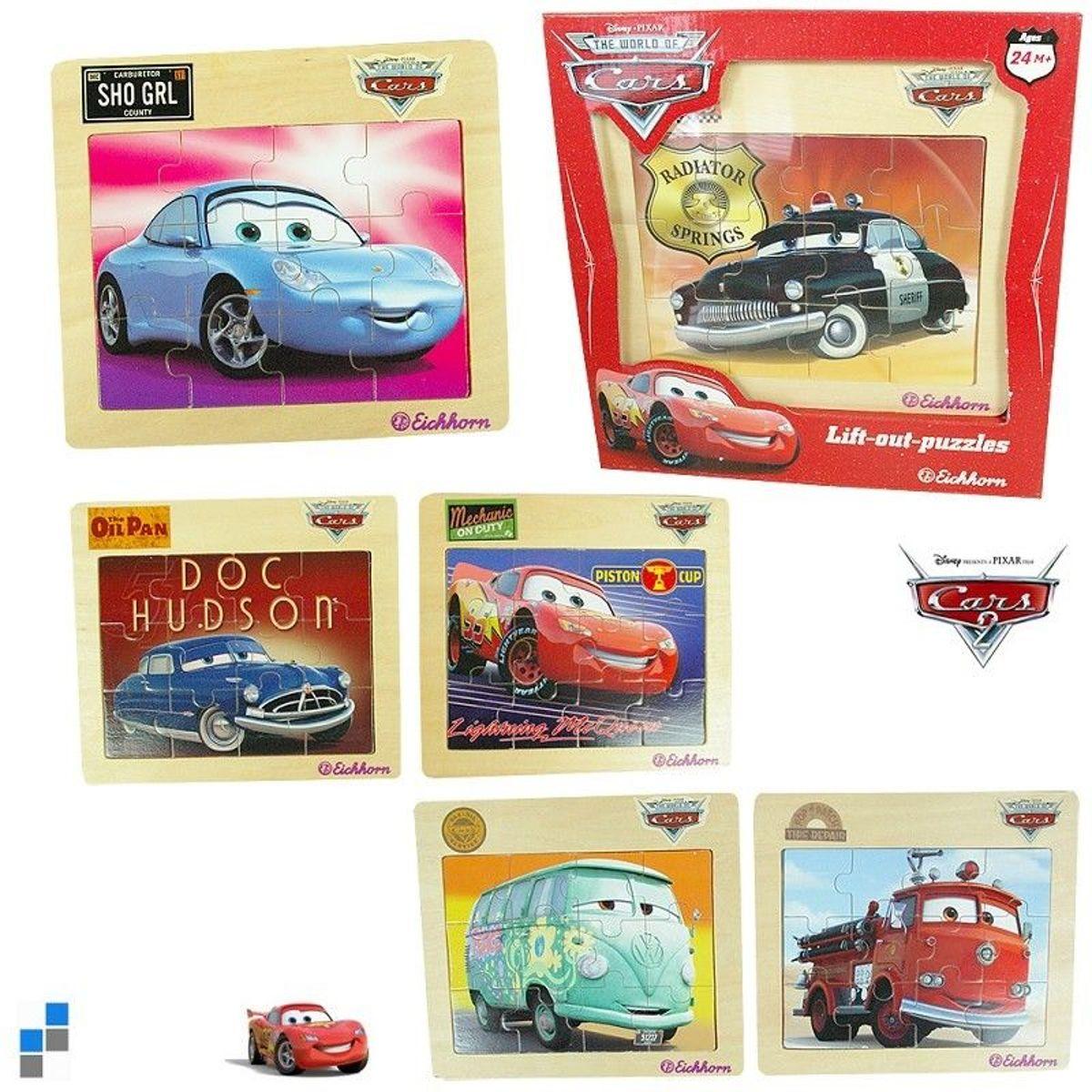 Eichhorn Disney Pixar Cars Lift- out- puzzles Houten puzzel assorti