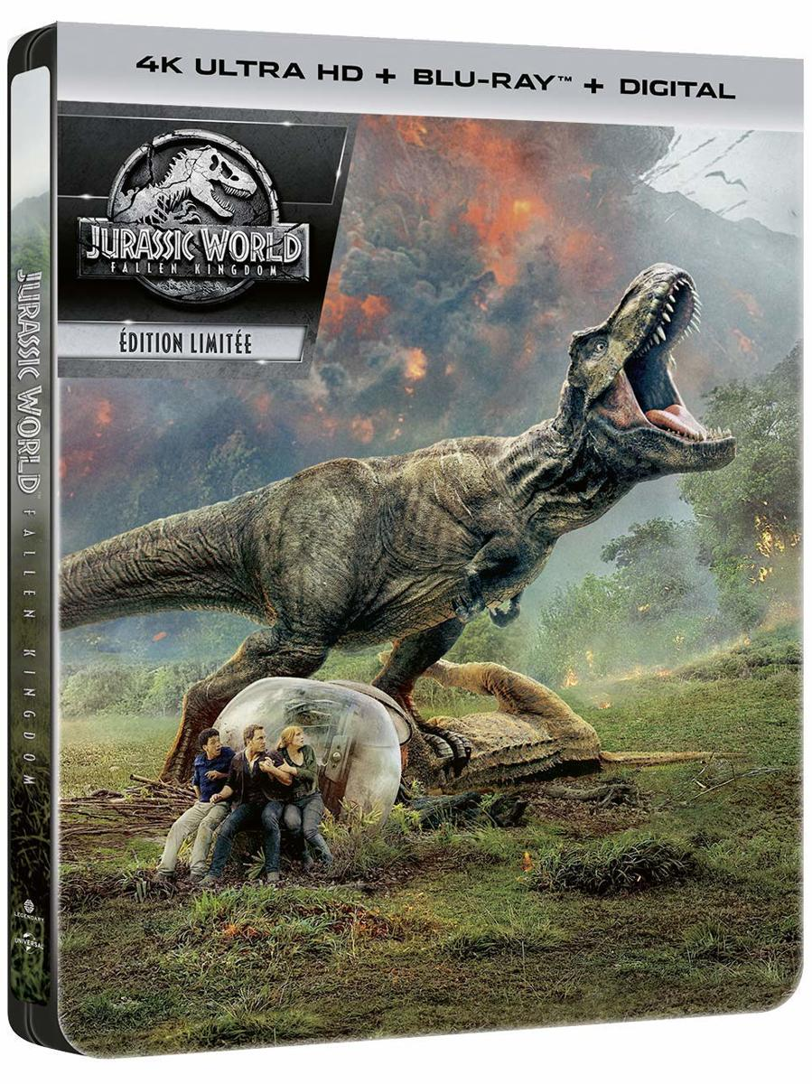 Jurassic World Fallen Kingdom Steelbook (4K UHD + blu-ray) (Import)-