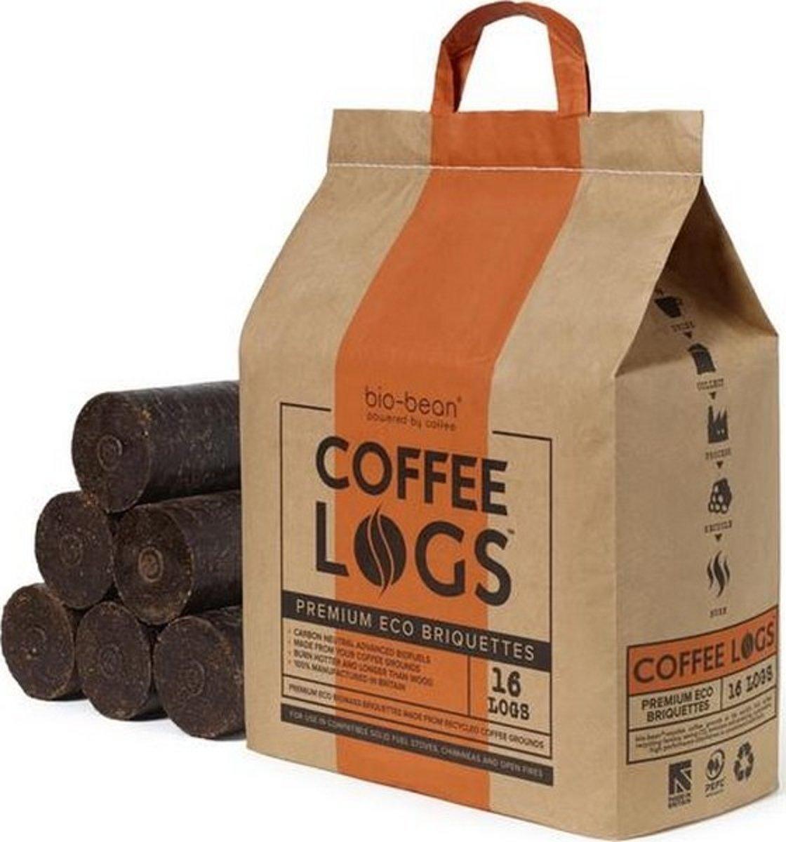 Eco koffiebriketten - Coffee LOGS - set van 16 stuks kopen