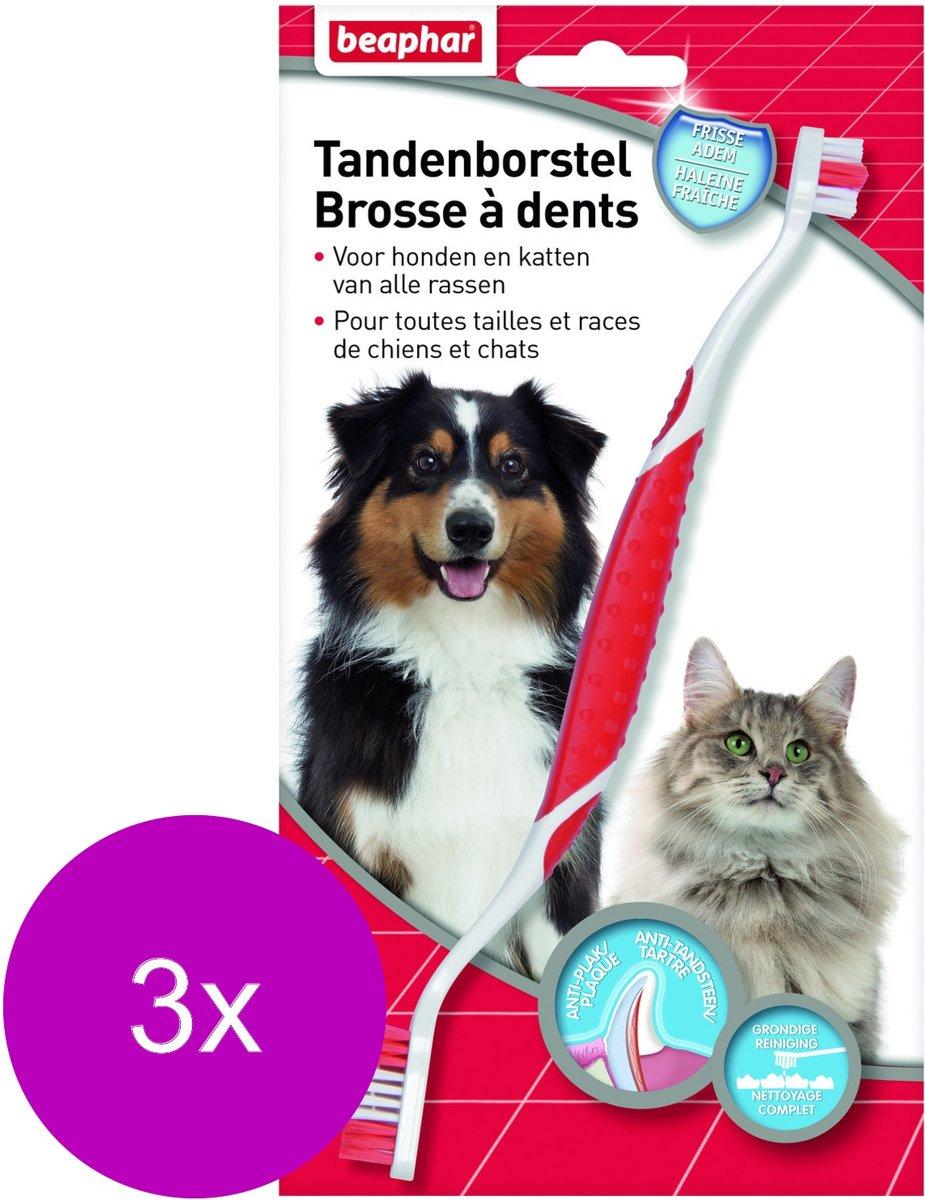 Beaphar Tandenborstel - Gebitsverzorging - 3 x per stuk kopen