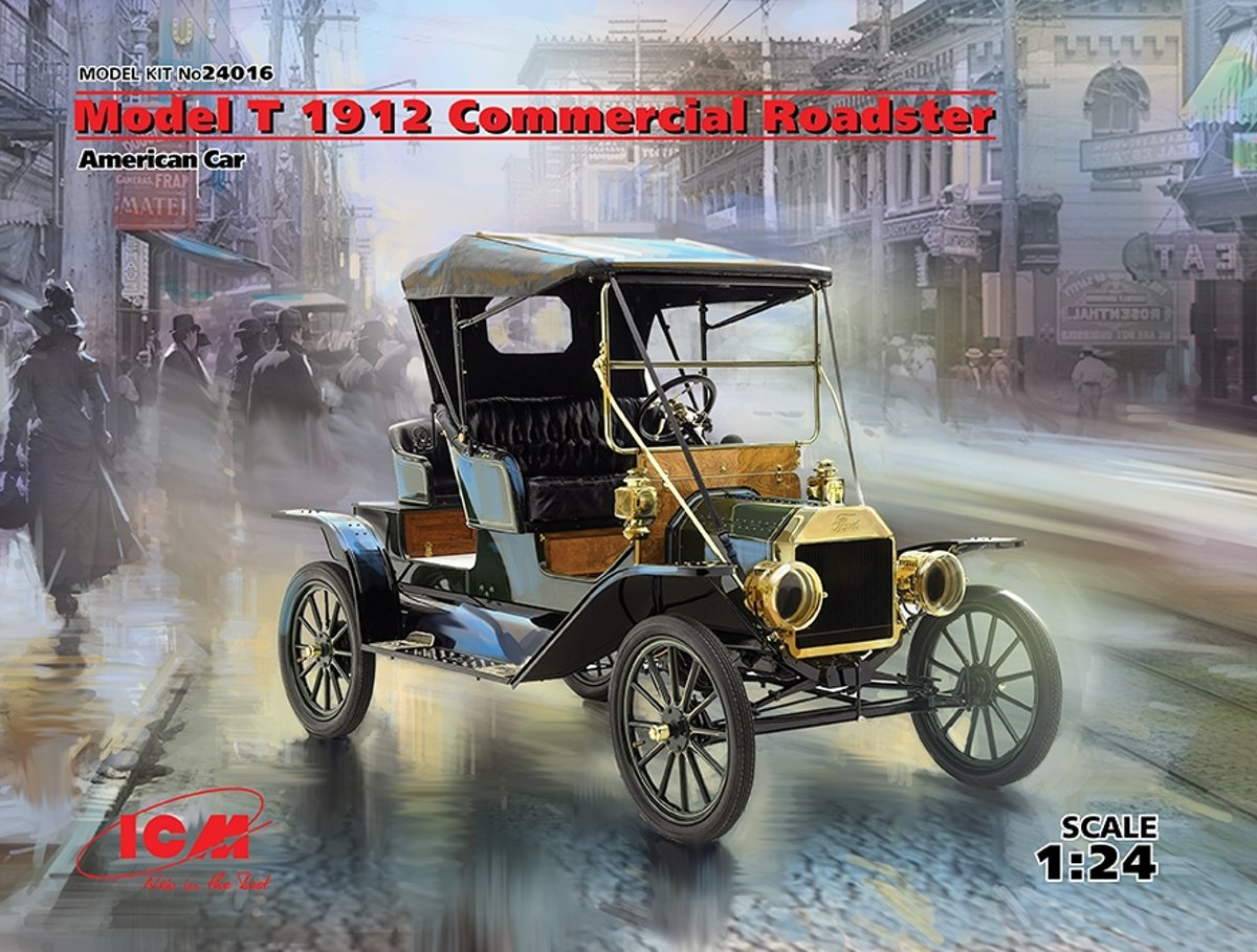 ICM Modelbouw set Ford Model T1912 Commercial Roadster