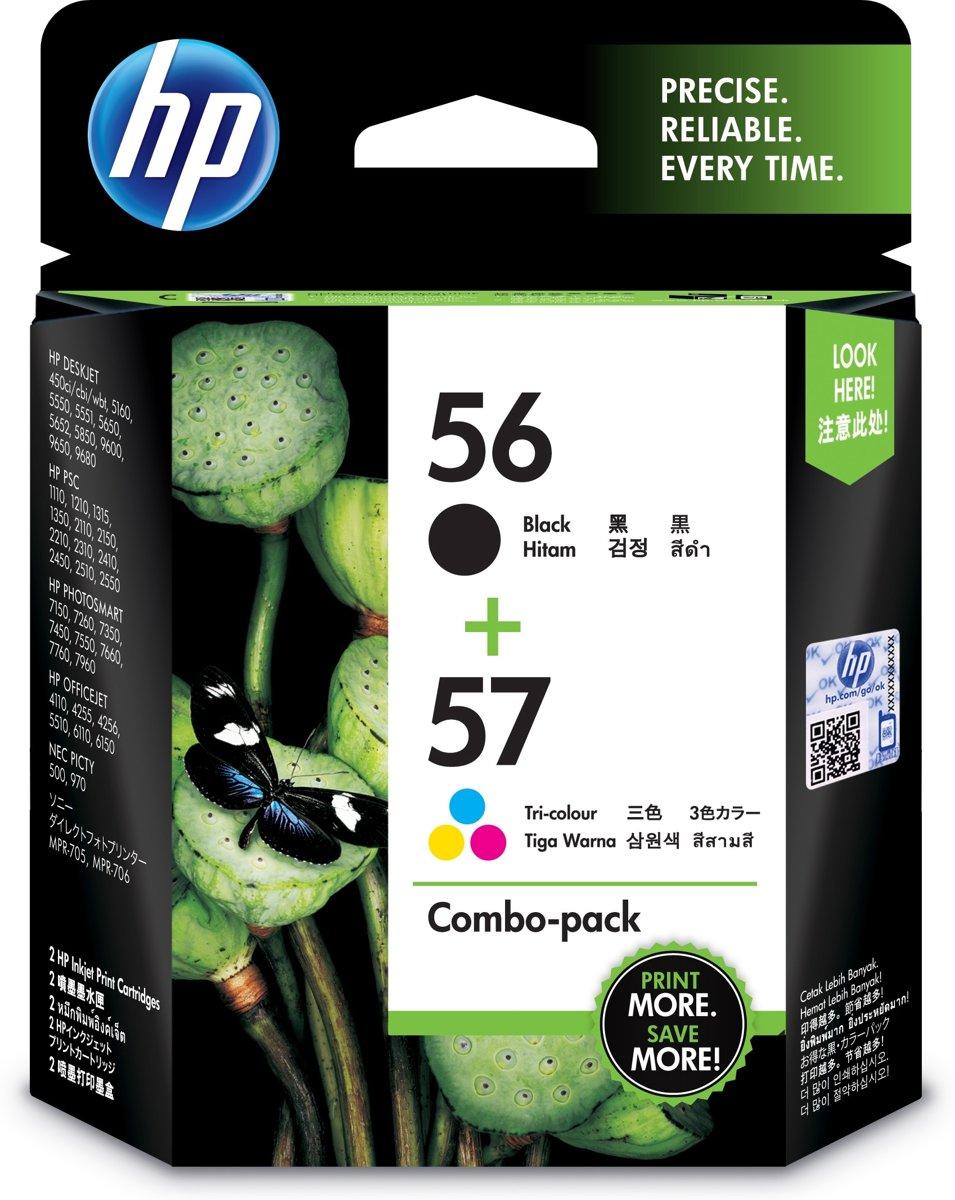HP 56/57 Origineel Zwart, Cyaan, Magenta, Geel Multipack 2 stuk(s) kopen