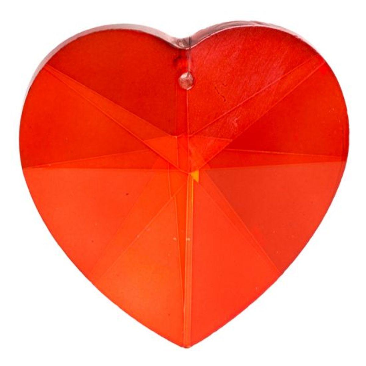 Yogi & Yogini naturals Regenboogkristal hartvorm rood (5 cm) kopen