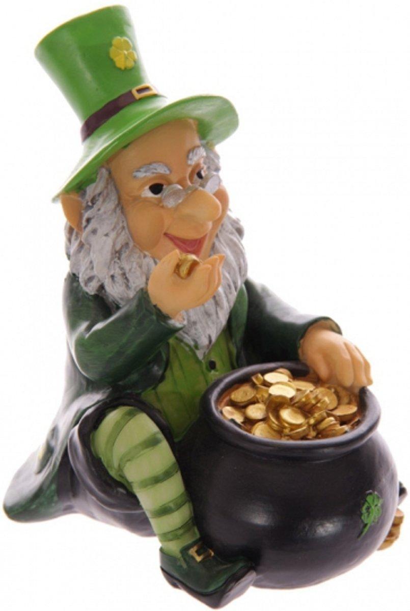 Spaarpot kabouter met pot goud